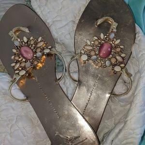 Giuseppe Zanotti jeweled sandals